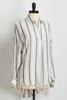Grey Striped Popover Shirt