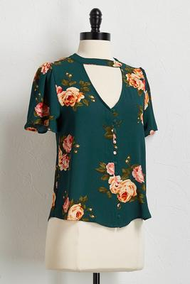 crepe woven floral top