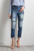 Printed Patchwork Girlfriend Jeans