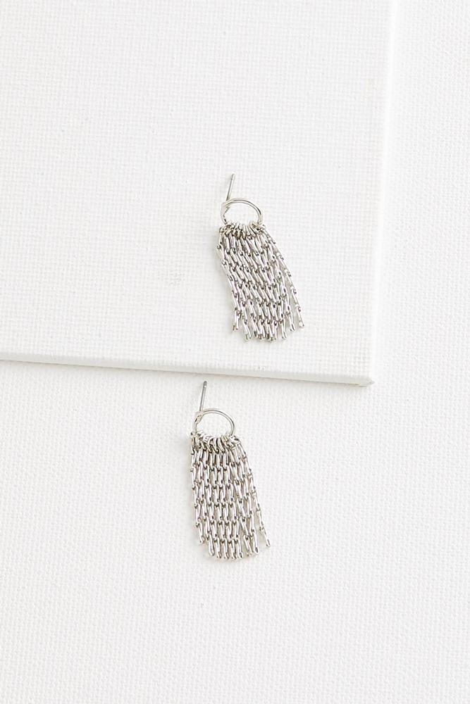 Dainty Metal Fringe Earrings