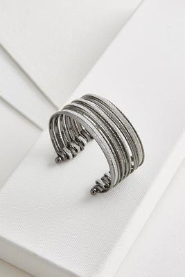 textured glitter cuff bracelet