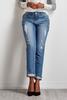 Crystal Embellished Girlfriend Jeans