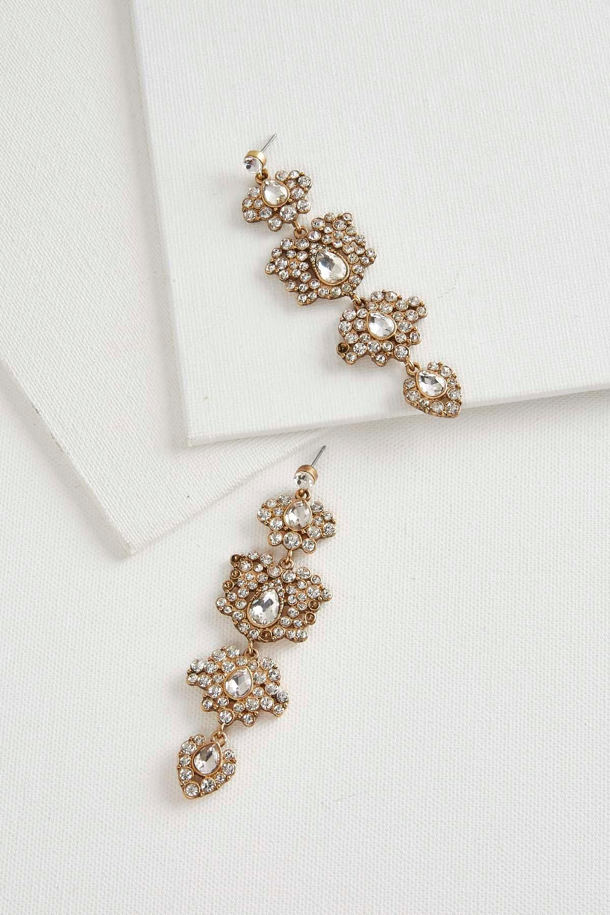 Versona | stone cluster chandelier earrings