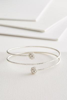 pave shimmering coil bracelet