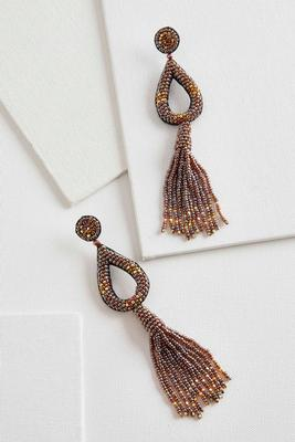 seed bead statement earrings