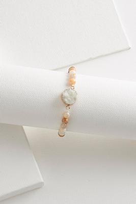 semi-precious druzy stretch bracelet