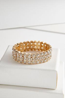 layered glass stretch bracelet