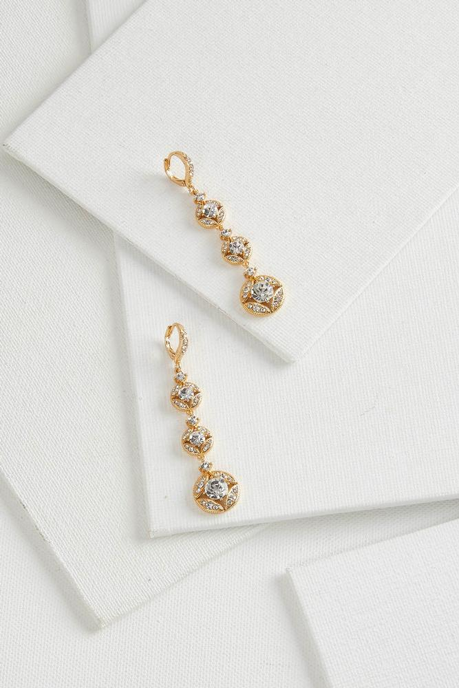 Tiered Sparkling Stone Earrings