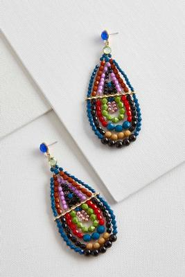 tear shaped dangle earrings