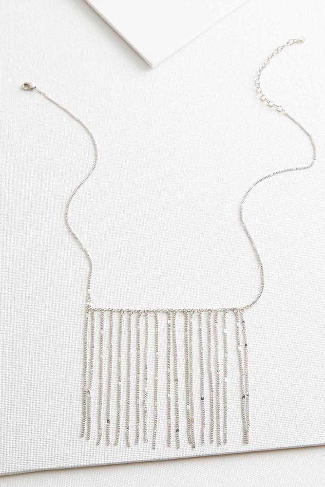 Dainty Chain Fringe Bib Necklace