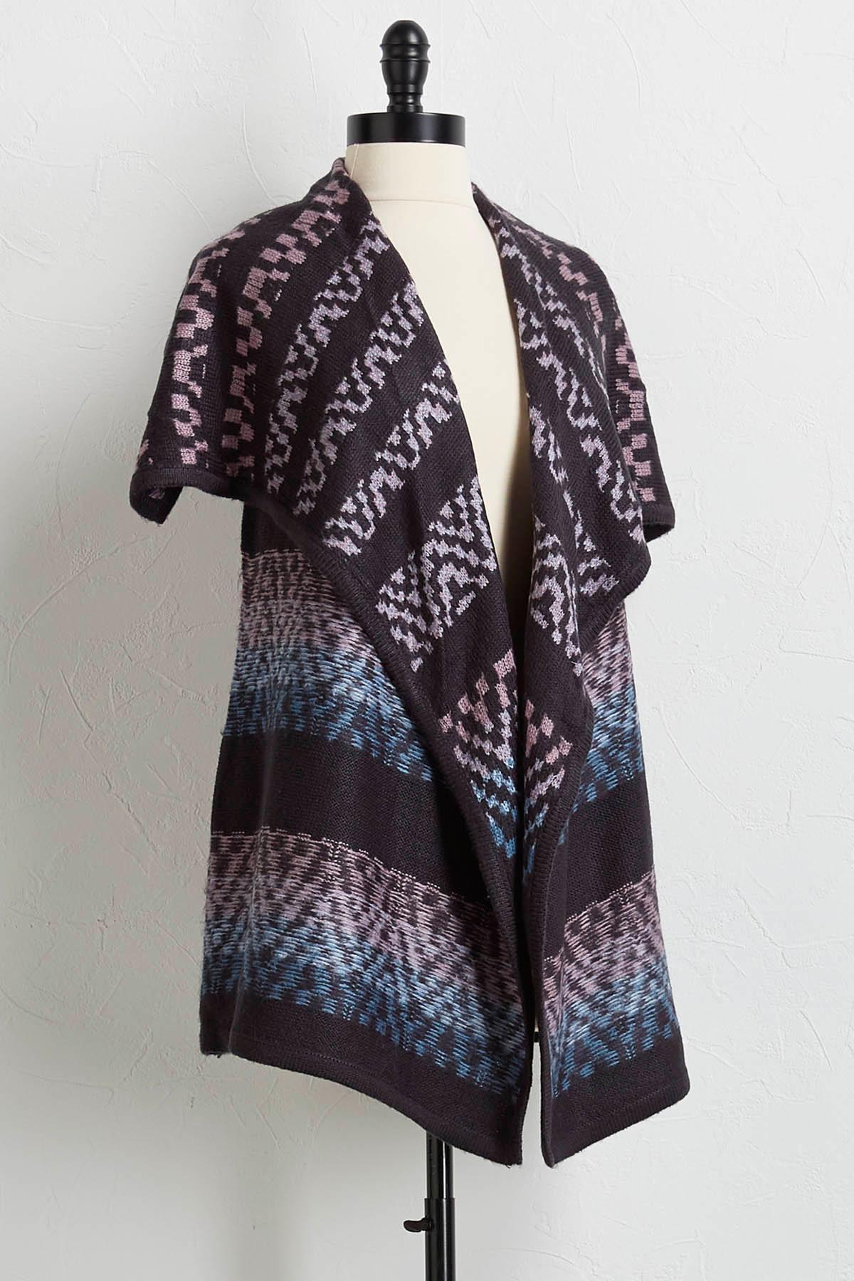 Reversible Waterfall Sweater Vest