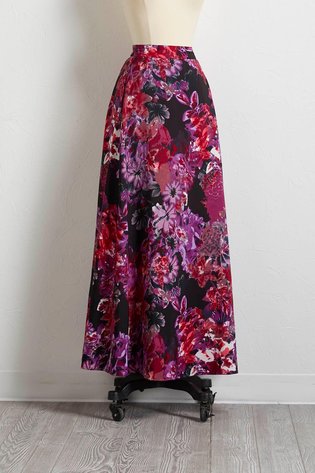 Midnight Garden Maxi Skirt