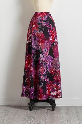 midnight garden maxi skirt