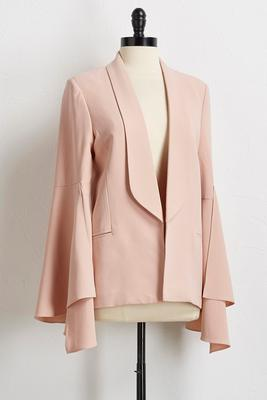 dramatic flair sleeve blazer