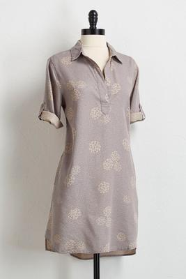 polka dot leaf tunic