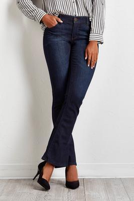 shape enhancing bootcut jeans