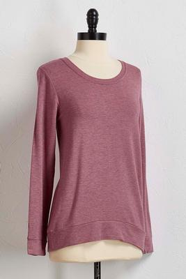 heathered racerback sweatshirt