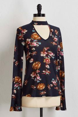 floral waffle top