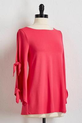 tie slit sleeve top