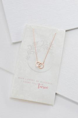 count your blessings card necklace