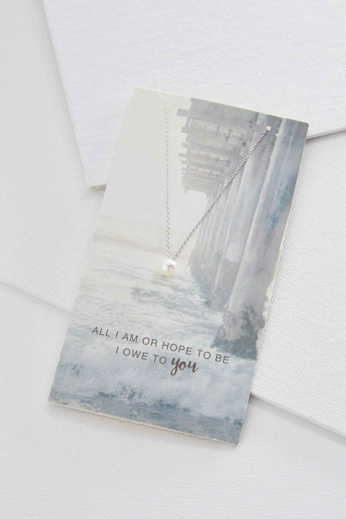 All I Am Card Necklace