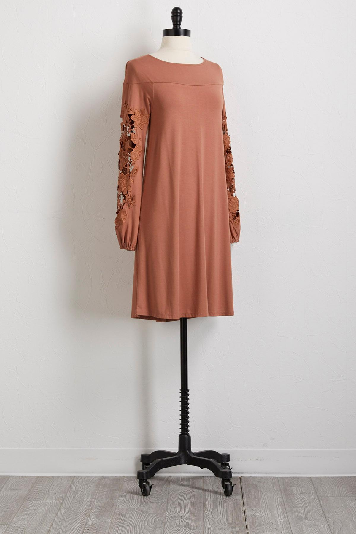 Crochet Sleeve Knit Dress