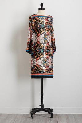 whimsy floral paisley shift dress