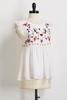 Embroidered Swiss Dot Babydoll Top
