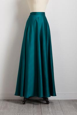 pond satin maxi skirt