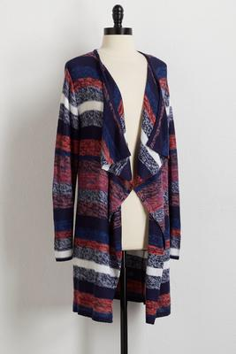 colorblock striped cardigan