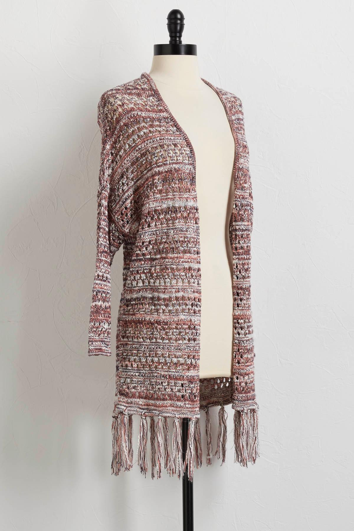 Fringe Cardigan Sweater