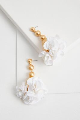 dangling sphere blossom earrings
