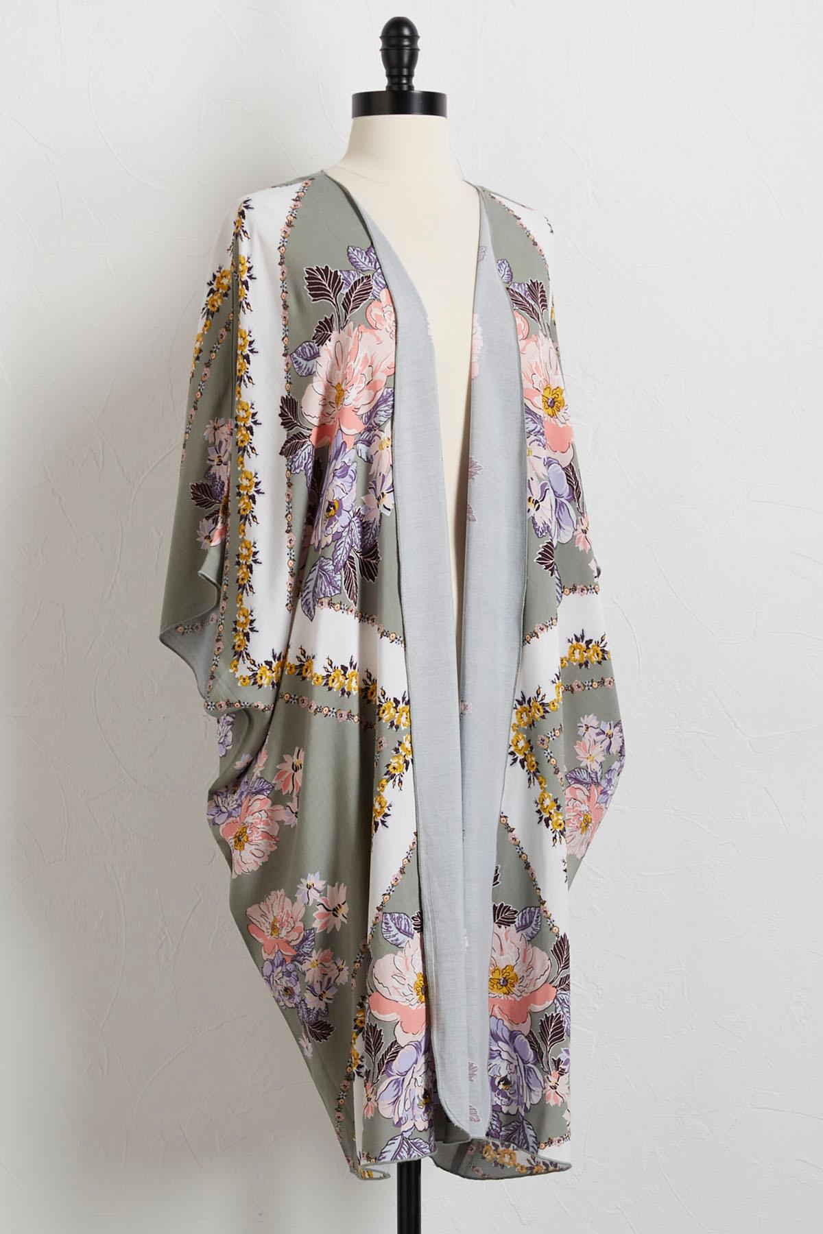 Garden Blooms Kimono Cardigan