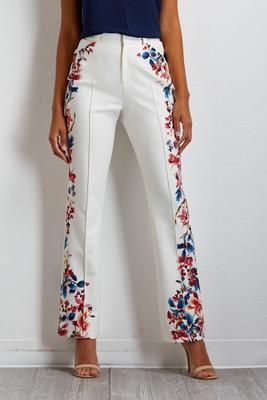 floral trouser pants