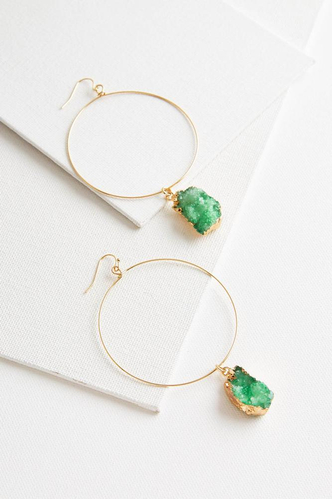 Glimmering Druzy Dangle Earrings