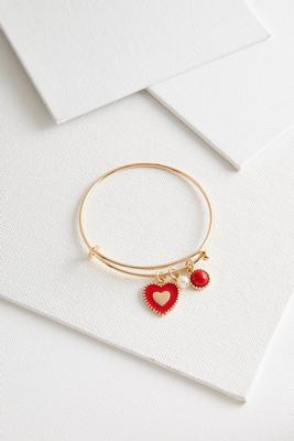 enamel heart charm bracelet