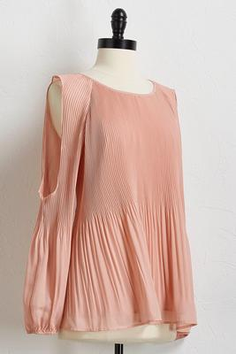 pleated bare shoulder top