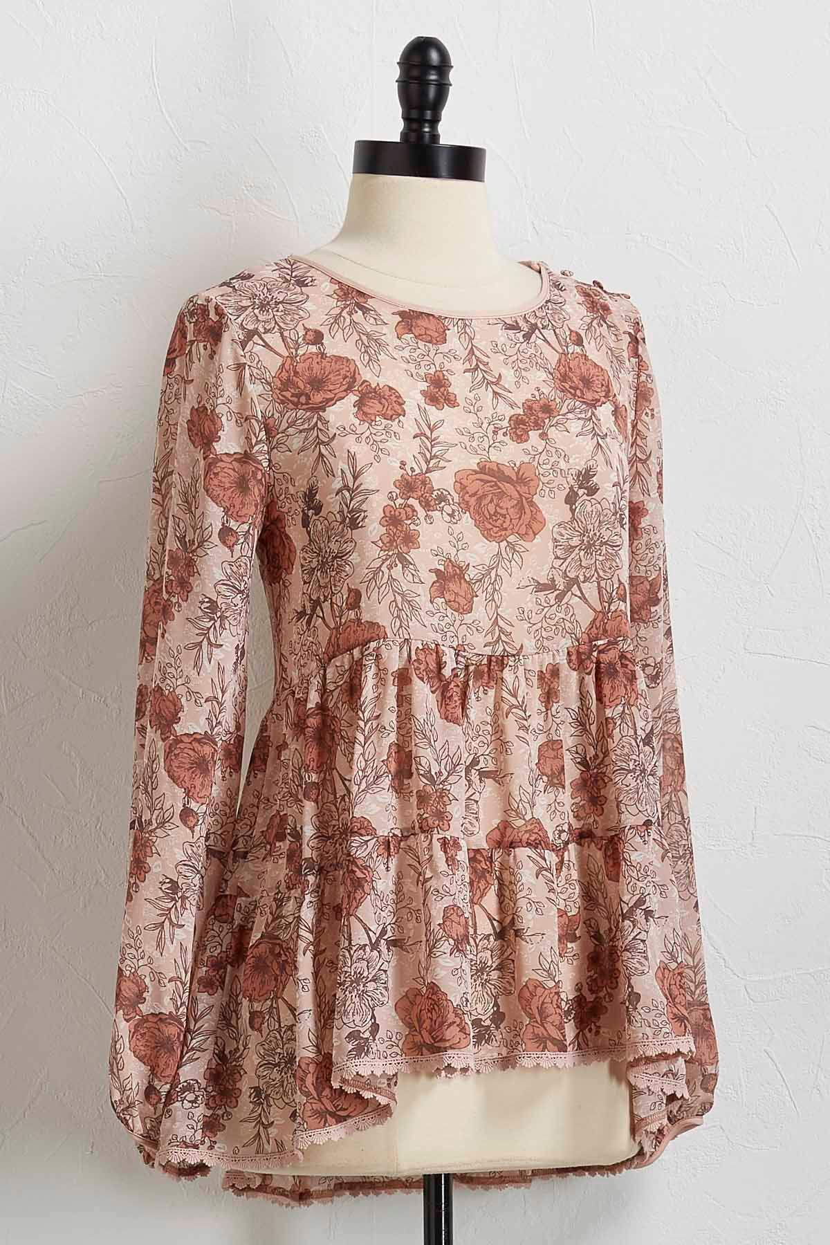 English Petal Poet Top