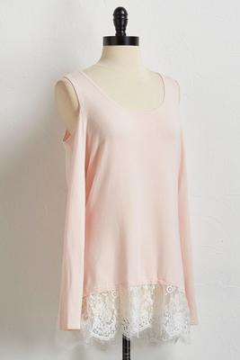 lace hem bare shoulder sweater