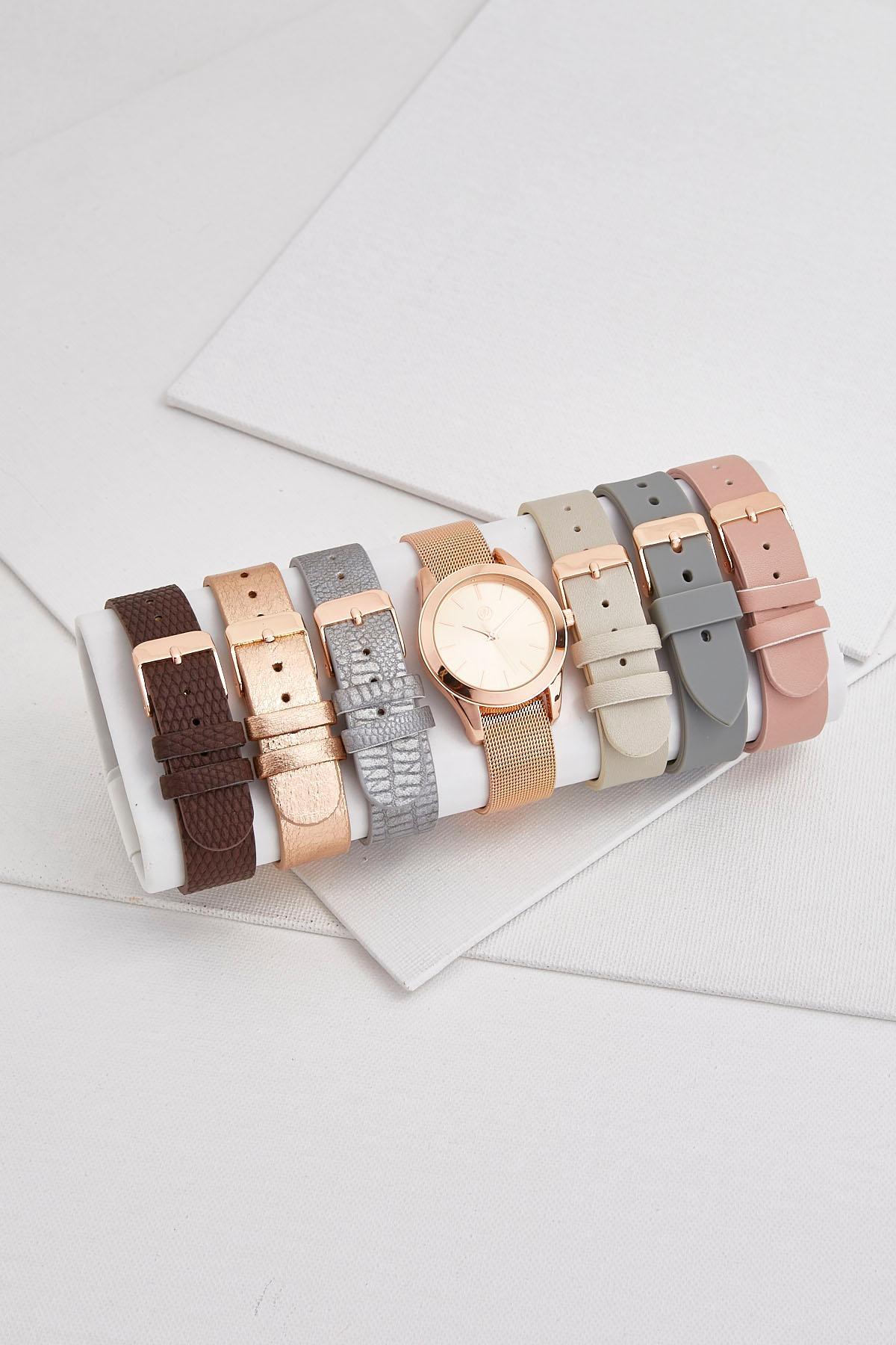 Rose Gold Interchangeable Watch Set
