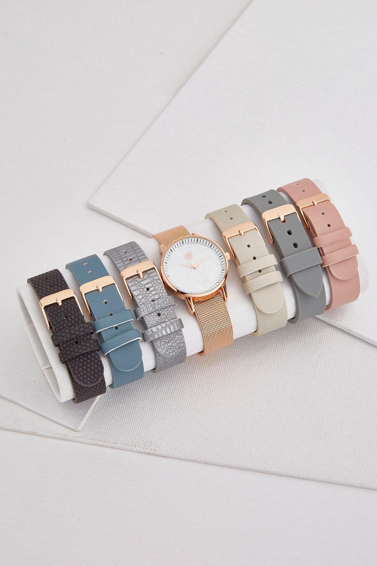 Interchangeable Pearlized Watch Set