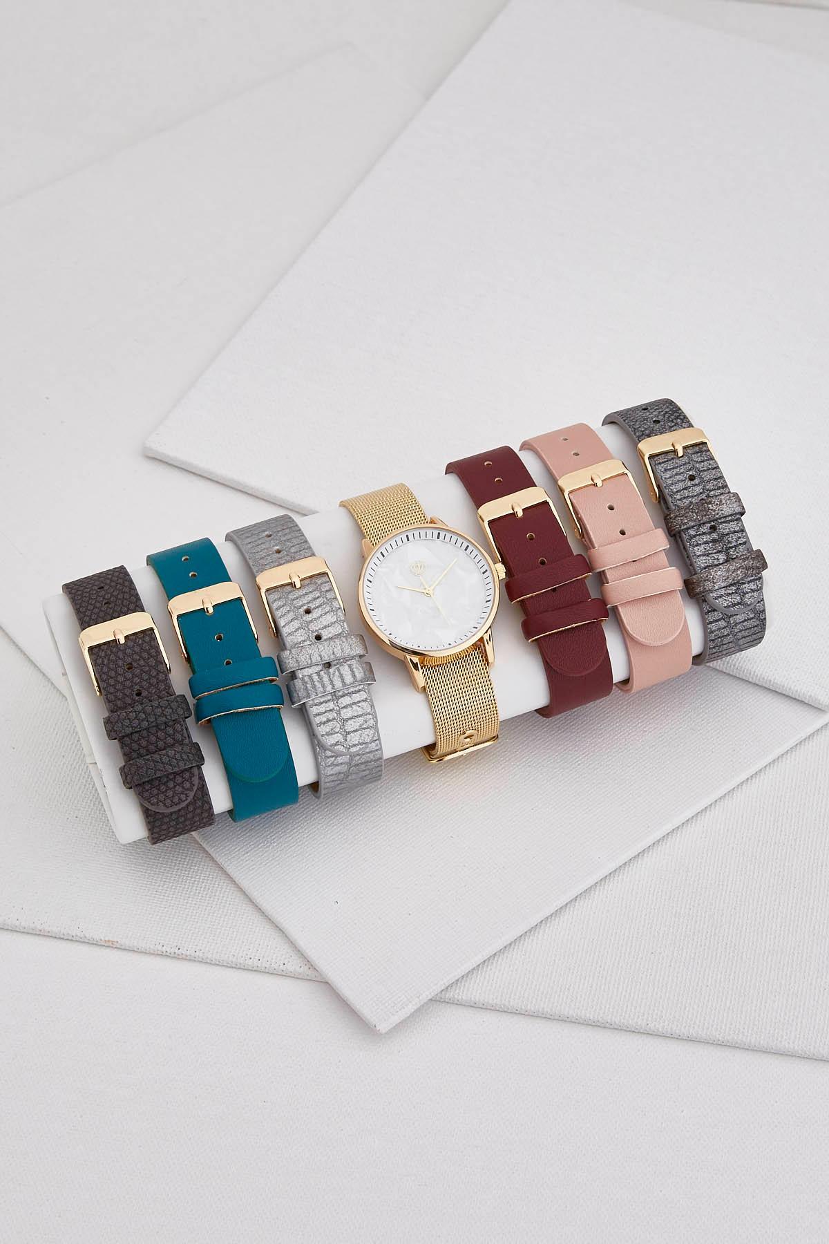 Gold Interchangeable Watch Set