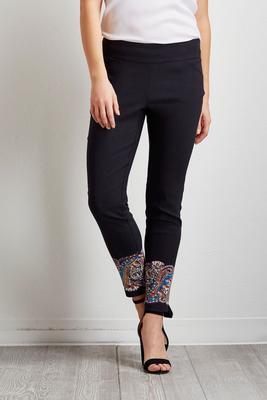 mosaic paisley ankle pants