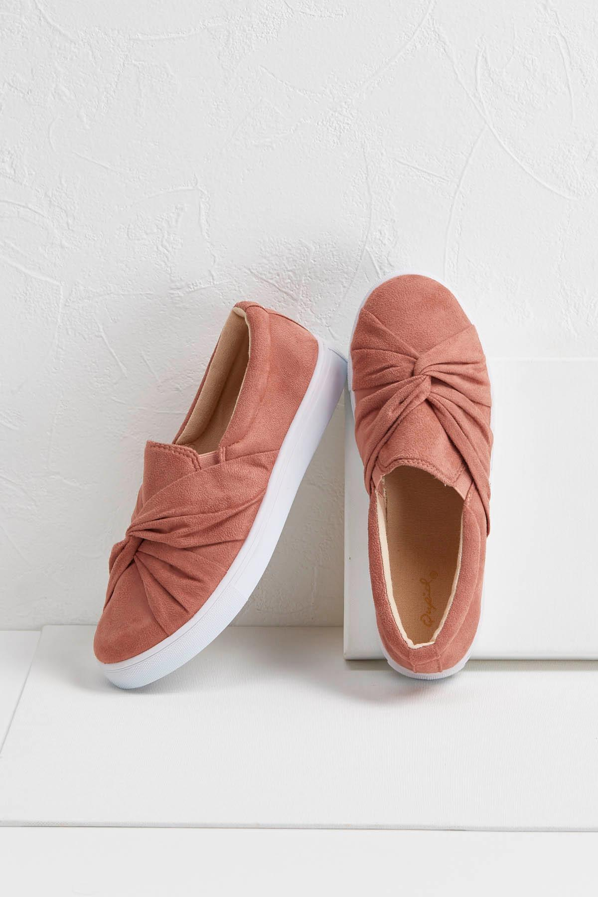 Knot Front Slip- On Sneakers