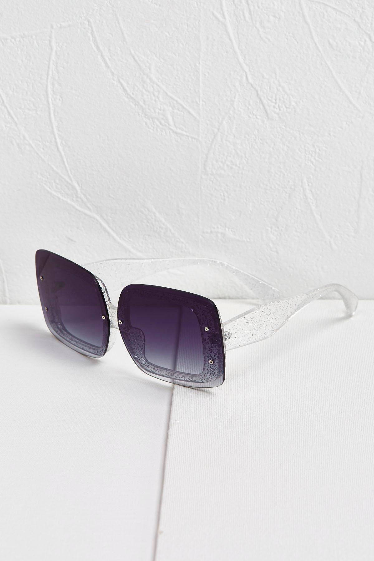 Square Gradient Glitter Sunglasses