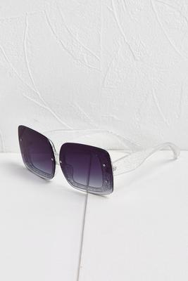 square gradient glitter sunglasses