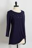 Embellished Knotted Front Tunic