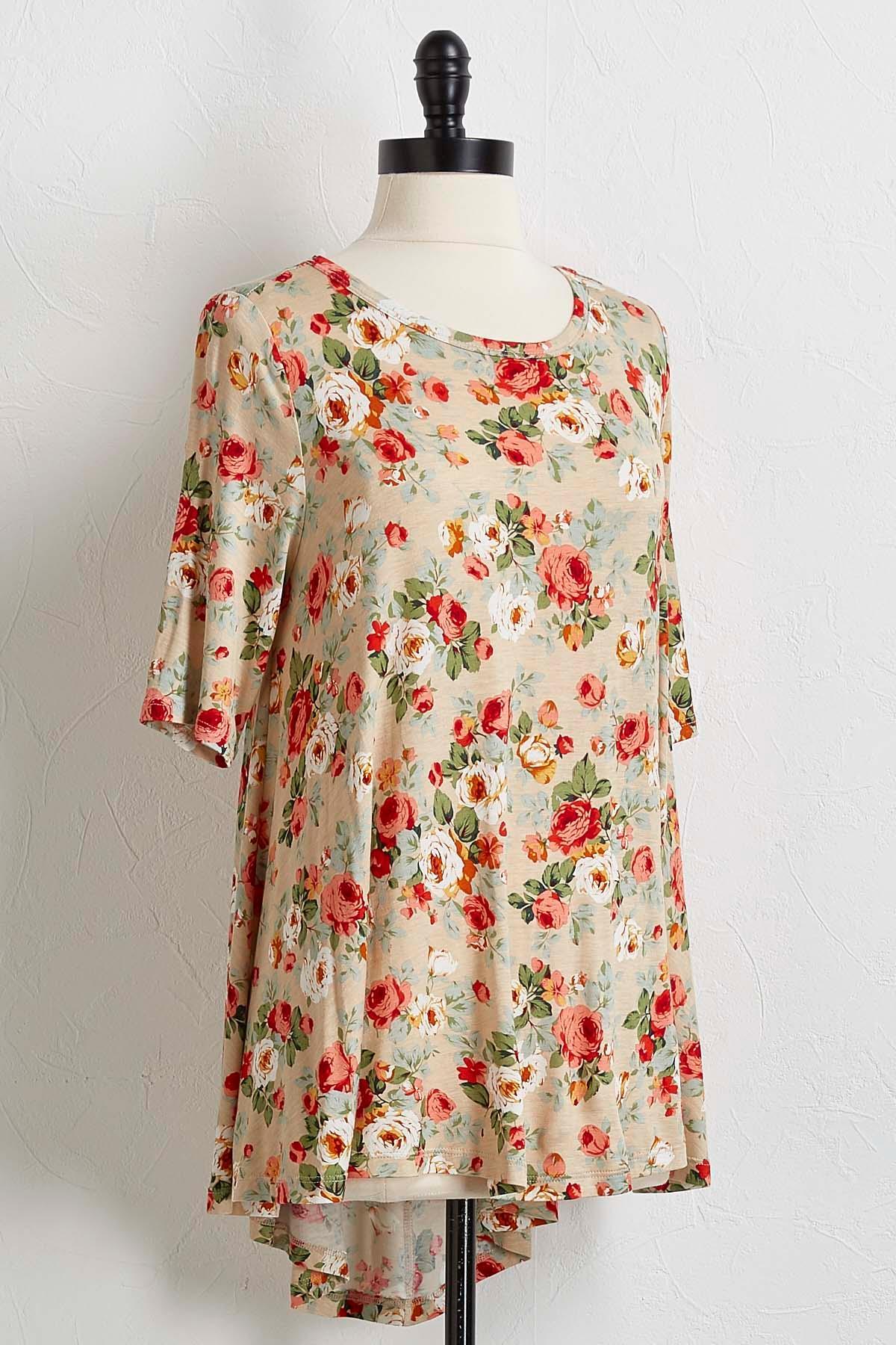 Rose Print Tunic