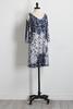 Puff Print Bare Shoulder Shift Dress
