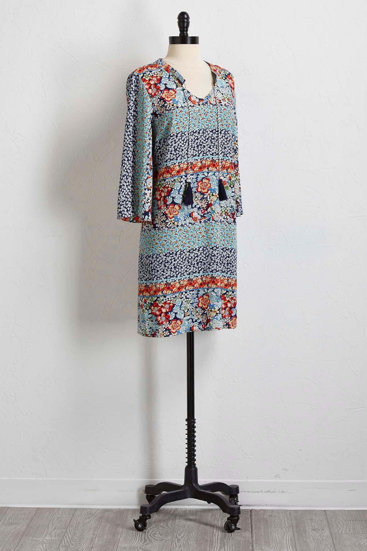 Floral Crepe Woven Shift Dress